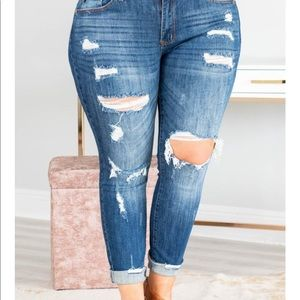 Chic Soul distressed skinny jeans.